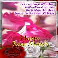 An Animated Rose Month Ecard.