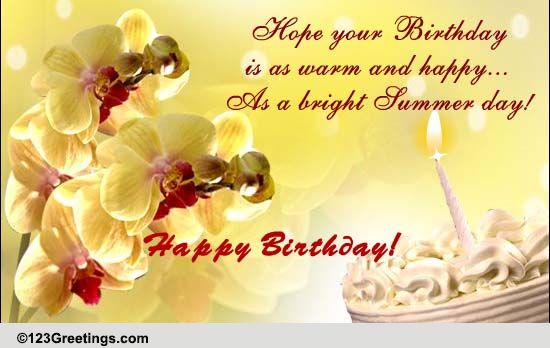 happy summer birthday  free birthday ecards  greeting