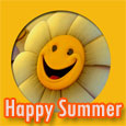 Smiley And Happy Summer Wishes.