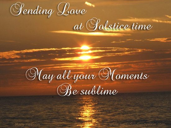 Sending Love At Solstice Time.