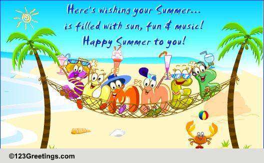 Ahoy summers here free happy summer ecards greeting cards 123 free happy summer ecards greeting cards 123 greetings m4hsunfo Choice Image