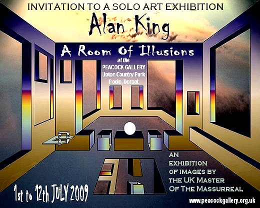 An invitation to an art exhibition in Poole, Dorset, UK.
