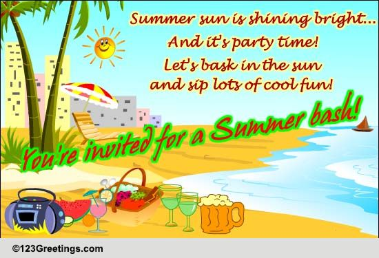 you u0026 39 re invited for a summer bash  free invitations ecards