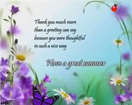 thank you summer