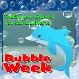 A Nice And Cute Bubble Week Card.
