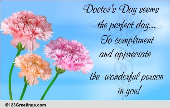 Wonderful person in you free doctors day ecards greeting cards free doctors day ecards greeting cards 123 greetings m4hsunfo