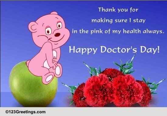 thank your doctor    free doctor u0026 39 s day ecards  greeting