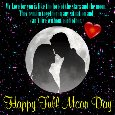 A Full Moon Day Card For Your Love.