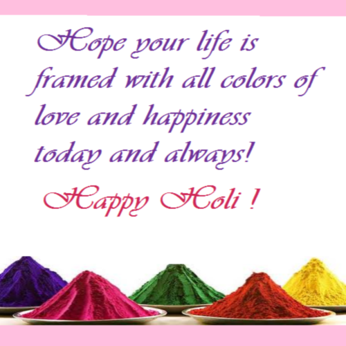Wish Happy Holi.