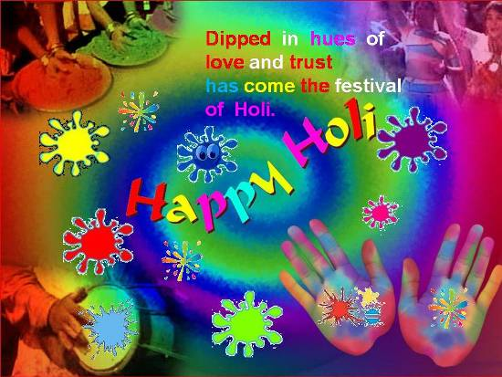 Colorful Greetings On Holi.