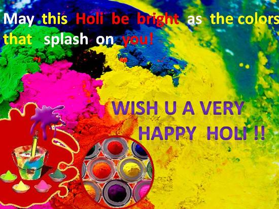 Heartfelt Wish For Loved Ones On Holi.