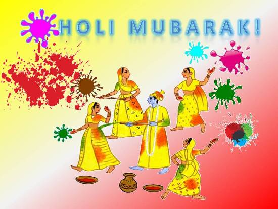 Greet Your Dear Ones On Holi.