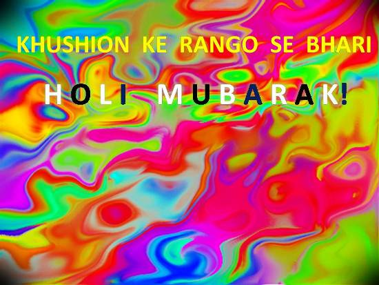 Colorful And Warm Holi Greetings.