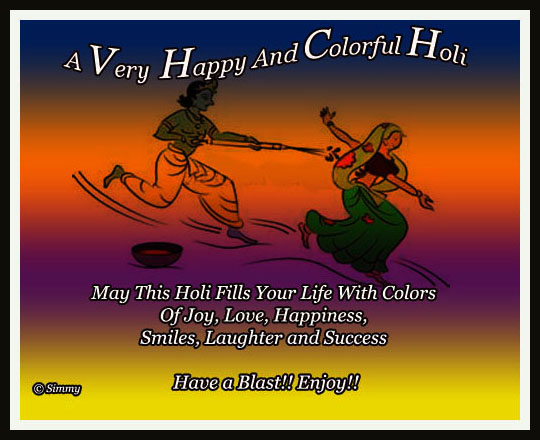 Heartiest Wishes For Happiest Holi.