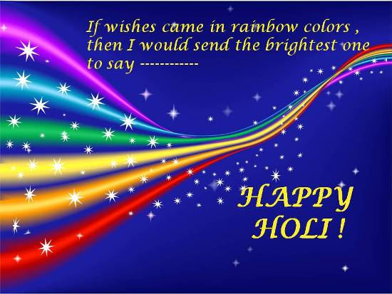 Colorful Greetings For A Happy Holi.