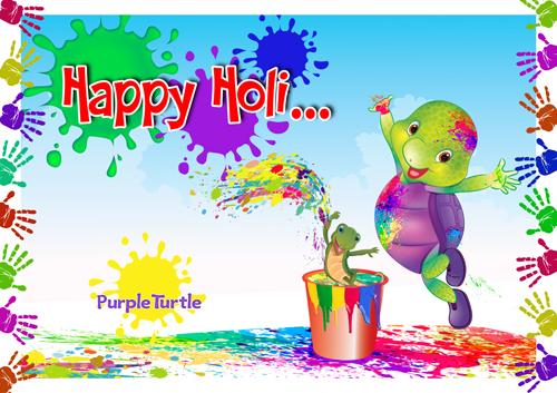 Purple Wishes You A Splashing Holi!