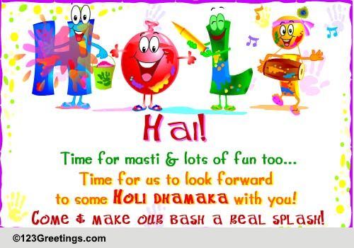 Holi invitation free specials ecards greeting cards 123 greetings stopboris Image collections