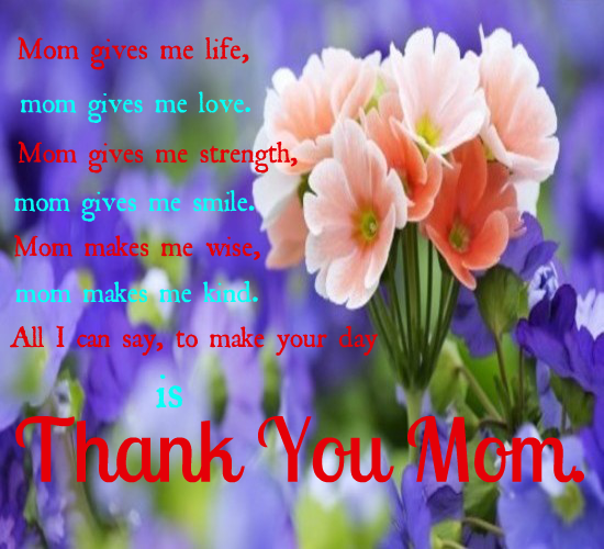 Thank You Mom For Everything.