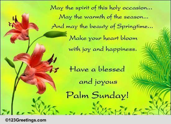 Palm Sunday Cards, Free Palm Sunday eCards, Greeting Cards | 123 ...