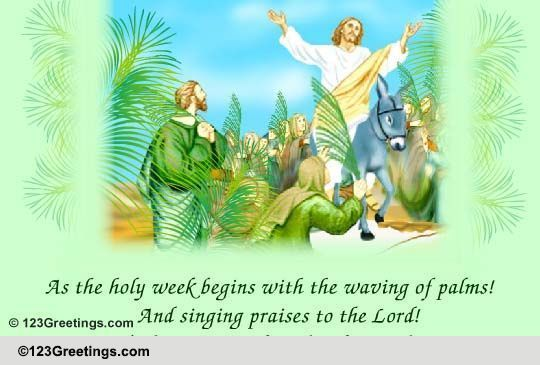 Day of blessings free palm sunday ecards greeting cards 123