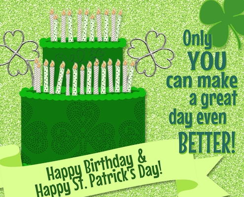 Shamrock Birthday Wishes.