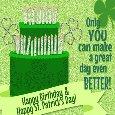 Shamrock Birthday Wishes.