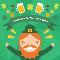 Celebratory St. Patrick%92s Day Ecard.