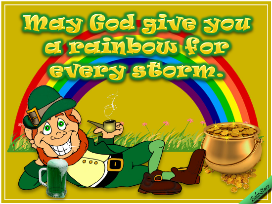 Rainbows Free Irish Blessings ECards Greeting Cards