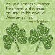 Irish Blessing For St. Patrick's Day.