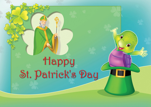 Purple Wishes Happy St. Patrick's Day.