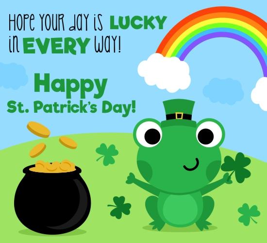 Froggy Happy St. Patrick's Day. Free Happy St. Patrick's ...