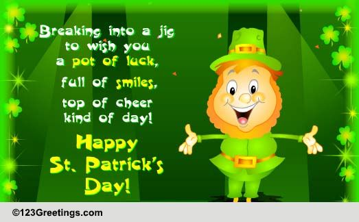 A Jig To Wish Ya On St Patrick S Day Free Happy St