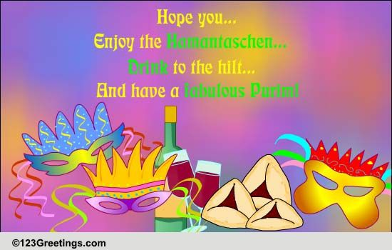 have a fabulous purim free purim ecards, greeting cards, Greeting card