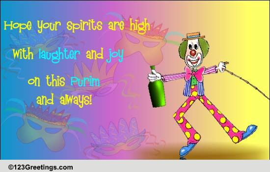 Purim Laughter And Joy Free Purim Ecards Greeting