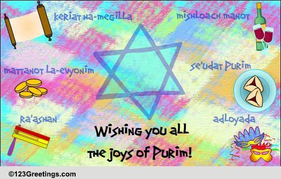 joys of purim    free purim ecards  greeting cards