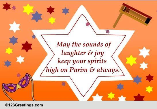 keep your spirits high free purim ecards, greeting cards, Greeting card