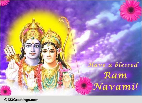 Calendar Ramnavmi : Blessed ram navami free ecards greeting