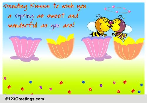 Happy Spring Day Message Spring love cards, free spring