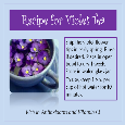 Recipe For Violet Tea.