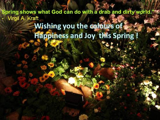 Heartfelt Wishes For A Lovely Spring.