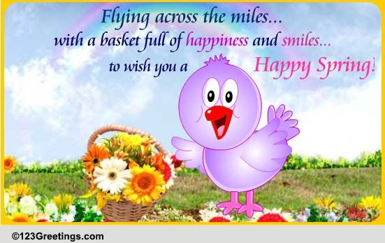 Miles Of Smiles... Free Happy Spring eCards, Greeting ...