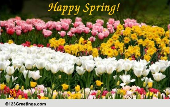 Happy And Colorful Spring Wishes. Free Happy Spring eCards ...