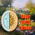 A Happy Spring Equinox Ecard.