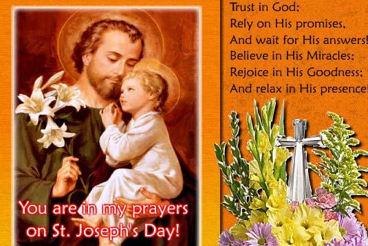 Saint josephs day cards free saint josephs day wishes greeting saint josephs day cards free saint josephs day wishes greeting cards 123 greetings m4hsunfo