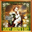 A Blessed Saint Joseph's Day Card.