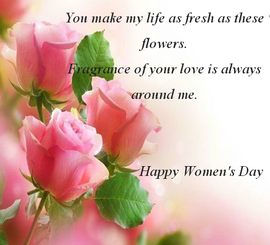 Flowers For Women's Day.
