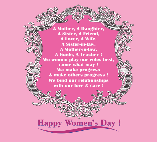 Womens Day Quotes With Images: Women's Day Wishes! Free Inspirational Wishes ECards