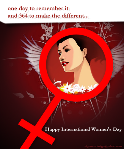 Happy International Women's Day.