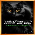 Black Cat On Friday The 13th.