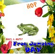Hop Frog Jumping Day Card!